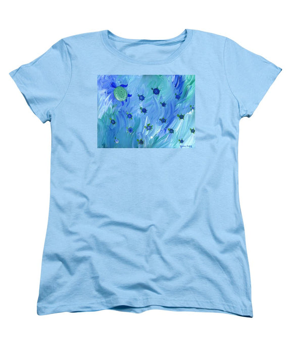 Swimming Turtles - Women's T-Shirt (Standard Fit)
