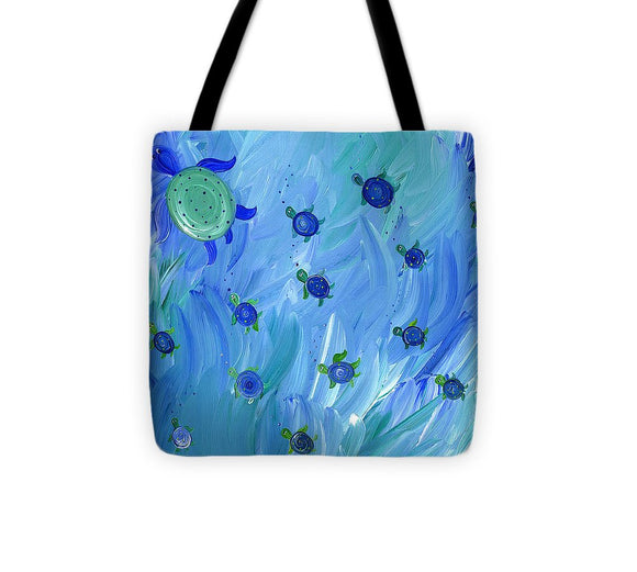 Swimming Turtles - Tote Bag