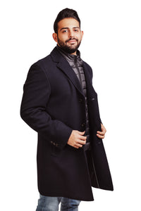 CAPPOTTO UOMO DIGEL ART 77905   MATERIALE 50% LANA 50% POLIAMMIDE  COLORE BLU  MADE IN CHINA