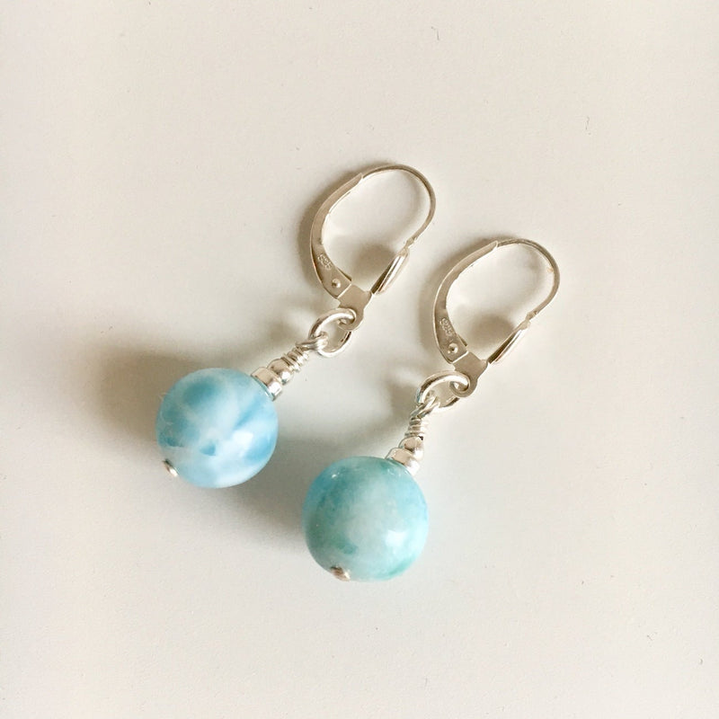 Larimar Communication Earrings
