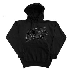 "Assholes By Nature ""Black Camo Logo"" Black Hoodie"