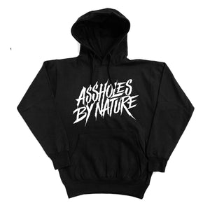 "Assholes By Nature ""White Logo"" Black Hoodie"