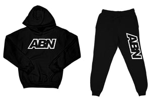 "ABN ""Top and Bottom"" Black SweatSuit"