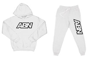 "ABN ""Top and Bottom"" White SweatSuit"