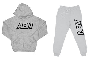 "ABN ""Top and Bottom"" Heather Grey SweatSuit"