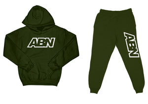 "ABN ""Top and Bottom"" Olive SweatSuit"