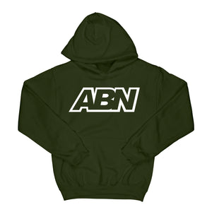 "ABN Classic Logo ""White Logo"" Olive Hoodie"