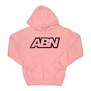 "ABN Classic Logo ""White Logo"" Pink Hoodie"