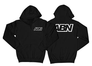 "ABN White Logo ""Black"" Zip Up Hoodie"
