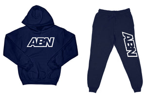 "ABN ""Top and Bottom"" Navy SweatSuit"