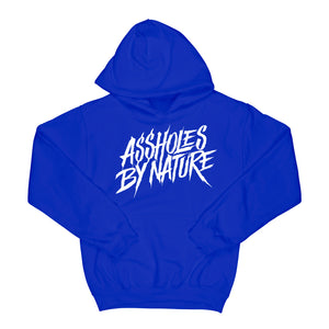 "Assholes By Nature ""White Logo"" Royal Blue Hoodie"