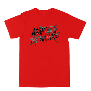 "Assholes By Nature ""Black Camo Logo"" Red Tee"