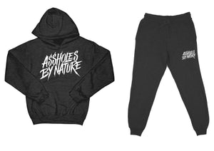 "Assholes By Nature ""Top and Bottom"" Charcoal SweatSuit"