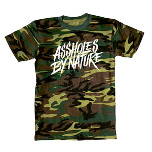 "Assholes By Nature ""White Logo"" Camo Tee"