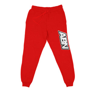 "Chenille ABN Logo ""Red"" Jogger Pants"