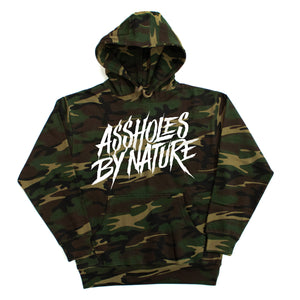 "Assholes By Nature ""White Logo"" Camo Hoodie"