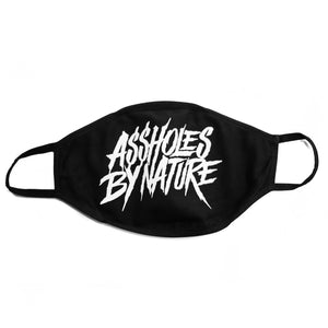 "Assholes By Nature ""Black"" Face Mask"