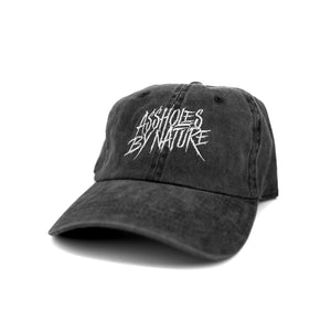 "Assholes By Nature ""Vintage Black"" Dad Hat"