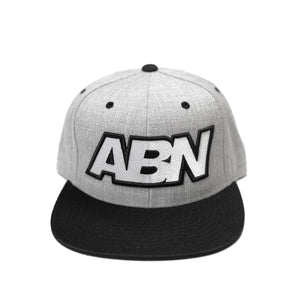 "ABN ""Grey/Black"" Snapback Hat"
