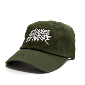 "Assholes By Nature ""Olive Green"" Dad Hat"