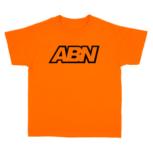 "ABN ""Black Logo"" Orange Kids Tee"