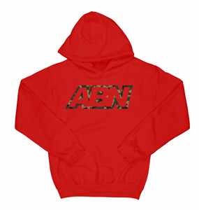 "ABN Camo Logo ""Red"" Hoodie"