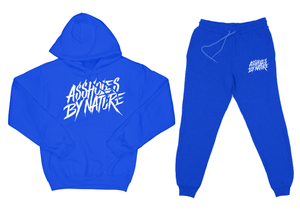 "Assholes By Nature ""Top and Bottom"" Royal Blue SweatSuit"