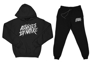 "Assholes By Nature ""Top and Bottom"" Black SweatSuit"