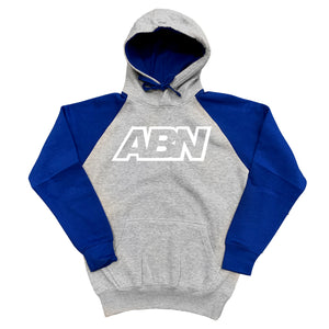 "ABN Logo Royal Blue White Logo ""Grey/Royal Blue"" Hoodie"