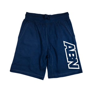 "ABN ""White Side Logo"" Navy Shorts"