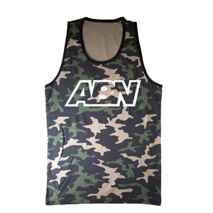 "ABN White Logo ""Regular Camo"" Tank Top"