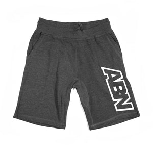 "ABN ""White Side Logo"" Charcoal Shorts"