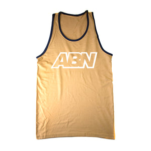 "ABN White Logo ""Gold/Blue Trim"" Tank Top"