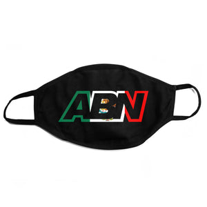"ABN ""Mexico Logo"" Black Face Mask"