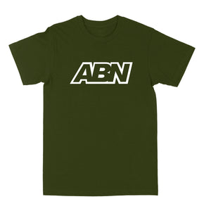 "ABN Classic Logo ""White Logo"" Olive Green Tee"