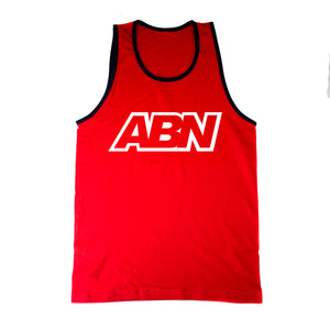 "ABN White Logo ""Red/Navy Trim"" Tank Top"