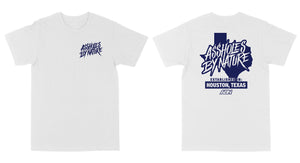 "Assholes By Nature Established ""Royal Blue Logo"" White Tee"