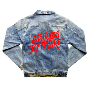 "Assholes By Nature ""Red Logo"" Denim Jacket"
