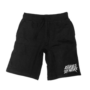"Assholes By Nature ""White Bottom Logo"" Black Shorts"