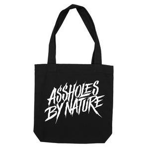 "Assholes By Nature ""Black"" Tote Bag"