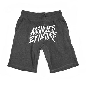 "Assholes By Nature ""White Big Logo"" Charcoal Shorts"