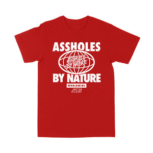 "Assholes WorldWide ""White Logo "" Red Tee"