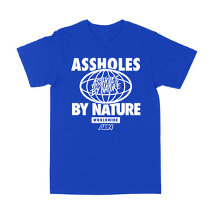 "Assholes WorldWide ""White Logo "" Royal Blue Tee"