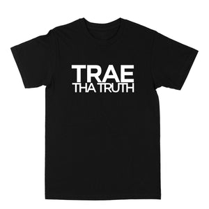 "Trae Tha Truth ""White Logo"" Black Tee"