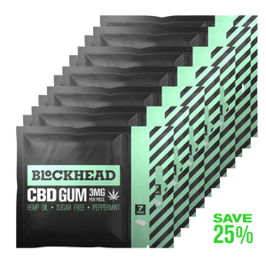 Open image in slideshow, BLOCKHEAD 3mg CBD Gum – 12 packs