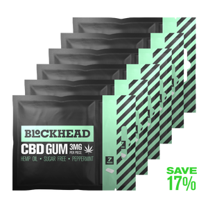 Open image in slideshow, BLOCKHEAD 3mg CBD Gum – 6 packs