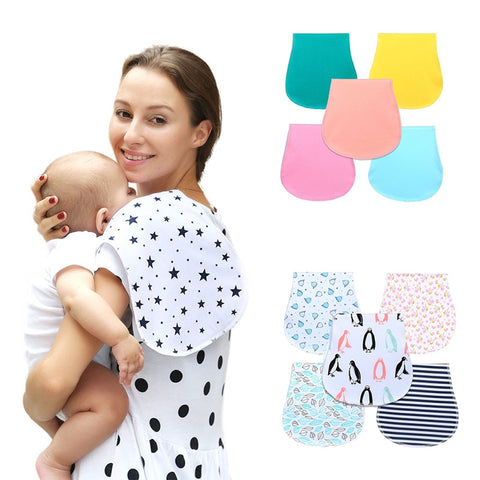 New Baby Burp Bibs Infant Baby Burp Cloths 100% Cotton Three Layers Waterproof Set Curved Absarbent Soft Baby Accessories - Eight Sparrows