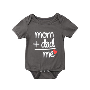 2019 Hot Family Love Newborn Baby Boy Girl Clothes Body Short Sleeve Letter Romper Jumpsuit Outfit Mom Dad Me - Eight Sparrows