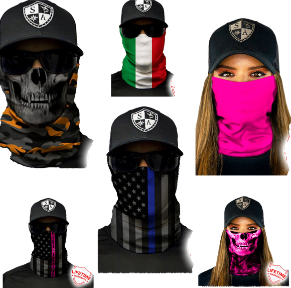 Face Shield Masks / Tubular Bandanas / Balaclavas