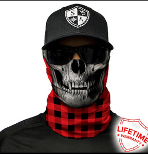 Red Plaid Skull